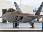 A U.S. Air Force F-22 at Joint Base Elmendorf-Richardson in Alaska. The fifth...