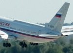 Russian Prime Minister Vladimir Putin flew to the MAKS site on an Il-96-300VI