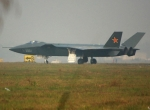 The Chinese recently conducted taxi trials of a new combat aircraft, designat...