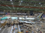 Boeing resumed normal operation of the 747-8 assembly line on June 7. (Photo:...