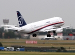 The Sukhoi Superjet 100 participated in the Paris Air Show's flying displays....