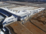 Aerial view of new international terminal at Atlanta Hartsfield-Jackson International Airport.