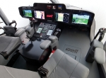 Bell engineers are continuing to develop the fly-by-wire flight controls for the Bell 525 through a system integration lab cockpit simulator in Fort Worth. The helicopter will feature a low-slung instrument panel with four Garmin G5000H screens, futuristic sidesticks and  plunging cockpit side windows for excellent visibility.