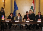FAA and EU representatives sign agreement in March in Budapest.