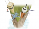 Work remains on fiscal cliff talks (Illustration: John T. Lewis)
