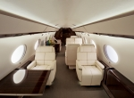 Gulfstream unveiled the finished G650 cabin at DeKalb Peachtree Airport on Su...