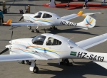 Saudi citizens are encouraged to earn private pilots licenses in these Saudi Aviation Flight Academy Diamond trainers.