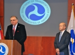 Transportation Secretary Ray LaHood and FAA acting Administrator Michael Huerta