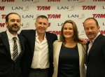 Principals of LAN, TAM merger pose for photograph.