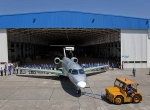 Embraer rolled out the first Legacy 500 on December 23.