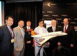 Just as he is the owner of the first Chinese-registered Legacy 650, action movie star and Embraer Executive Jets brand ambassador Jackie Chan was introduced yesterday as China launch customer of the 650's smaller sibling, the Legacy 500, to be delivered in 2015.