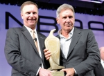 Ed Bolen and Harrison Ford Al Ueltschi Award for Humanitarian Leadership