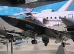 AVIC's display at the Aviation Expo China show included this scale model of the company's J-31/Project 310. It's designed to be marketed as China's stealthy export competitor to Lockheed's F-35.