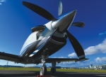 A new tail-cone and a five-blade composite propeller with redesigned spinner distinguish the TBM 900 externally from its predecessors. Its redesign also includes  a banana-shaped air intake, carbon-fiber cowlings and new exhaust stacks.