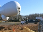 JLens aerostat at Aberdeen Proving Ground