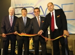 Cutting the ribbon opening the 15th Annual EBACE in Geneva, Switzerland.
