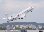 Falcon 8X in flight