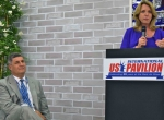 Secretary of the Air Force Deborah Lee James (right) and assistant secretary for acquisition Bill LaPlante