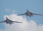 Two Tu-160s in flight
