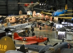 World War II aircraft on display