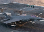 F-35C on aircraft carrier