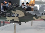 Light Attack Helicopter model on display
