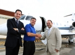 Delivery of the first Legacy 450 to a European customer.