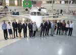 Phenom 300 delivery ceremony