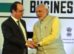 French President Hollande with Indian Prime Minister Modi