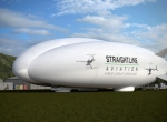 hybrid airship on the ground