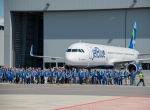 First delivery from Airbus plant in Mobile, Alabama