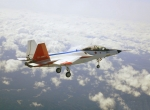 Mitsubishi X-2 in flight