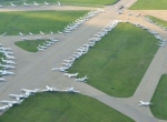 Taxiways packed with business jets for the Kentucky Derby