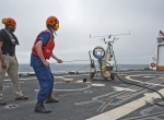 ScanEagle launch from Coast Guard cutter Bertholf.