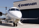 A super-midsize Legacy 650 sits in front of the company's Mesa, Ariz. service center. Embraer Executive Jets built up a network of 65 authorized service centers–26 of which are in the U.S.–and six company-owned facilities, half of them in the U.S., to keep a fleet that is approaching 1,000 aircraft flying.