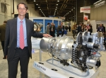 Olivier Andriès, chairman and CEO of Turbomeca Safran, introduced the Arrano turboshaft engine to the Heli-Expo crowd.