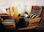 """The """"Pearl"""" business-class section holds 40 flatbed seats, each with aisle access."""