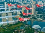 RSAF Black Knights Fly Over Singapore. Photo: MINDEF Singapore