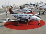 Hawker Beechcraft is promoting special-missions roles for King Airs and brought three to MEBA 2012: a 350i, C90GTx and 250.