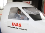 VisionSafe's emergency vision assurance system can help pilots see in a smoke-filled cockpit. When inflated, it forms a clear, smoke-free channel to the windscreen.
