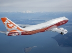 "Plans call for a Boeing 747-8 Intercontinental, dressed in its new ""sunrise"" ..."