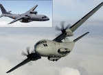 Europe's rival medium-size airlifters–the Airbus C295 (inset) and Alenia C-27...