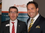 Joel Hencks (l) managing director of AeroEx and Martin Lidgard. Webmanuals CEO, are here at EBACE to demonstrate the functionality of their new recent product partnership.