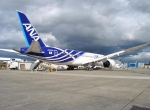 ANA's second 787, still sitting on Boeing property in Everett, Wash., will join