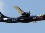 This newly certified ATR 72-600 on display here is soon to be delivered Royal...