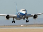 The first Boeing 787 took a break from operations at Edwards Air Force Base i...