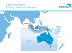 Graphic showing airspace managed by Australia, other nations