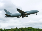 KC-46A EMD-1 aircraft with refueling boom installed