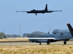 RQ-4 Global Hawk and U-2 reconnaissance aircraft