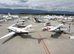 With its static display located steps from the PalExpo convention center, EBACE offers perhaps the most convenient opportunity for showgoers to see the aircraft up close.